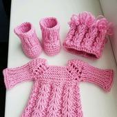 Платье, шапочка и сапожки для куколки Паола Рейма