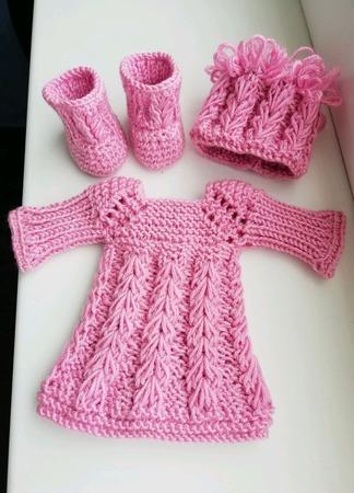 Платье, шапочка и сапожки для куколки Паола Рейма ручной работы на заказ