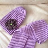 Шапочка-тыковка и шарф