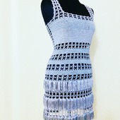 Вязаное платье из шелка