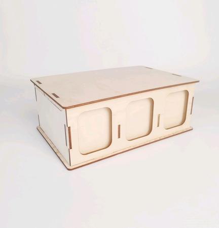 Заготовка для декупажа - Чайная шкатулка с карманами ручной работы на заказ