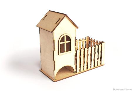 Чайный домик с забором ручной работы на заказ