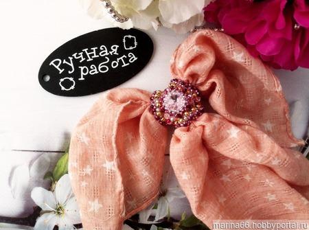Красивая брошь-зажим для платка ручной работы на заказ