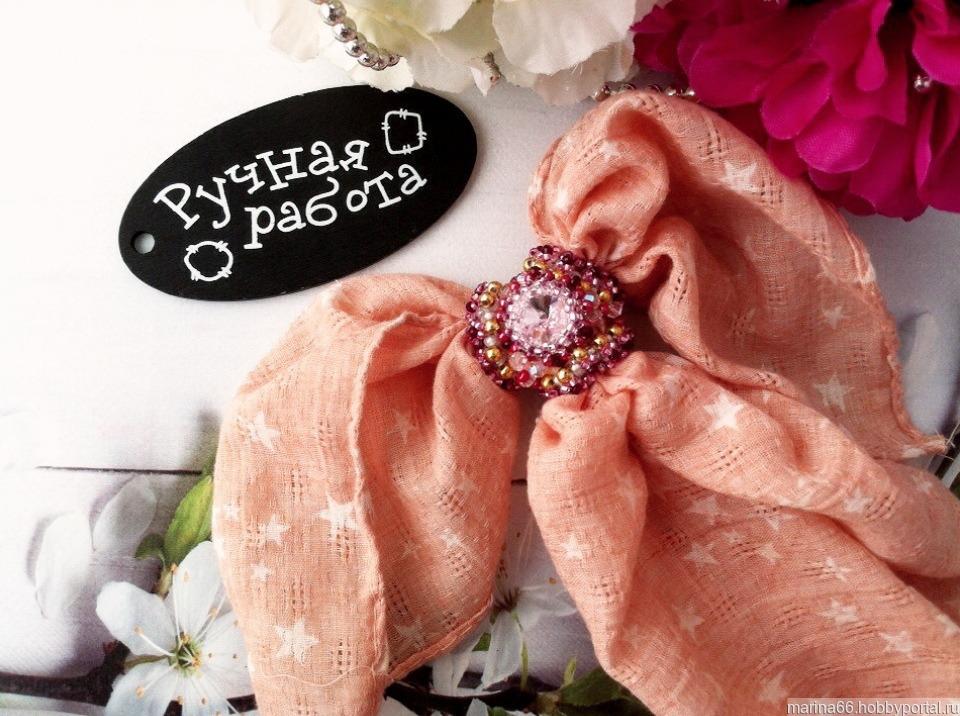 b2b87b00b853 Красивая брошь-зажим для платка – купить в интернет-магазине ...