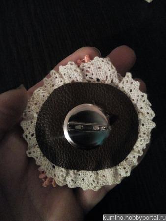 Брошь в стиле Бохо ручной работы на заказ