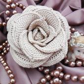 Брошь-цветок «Роза»