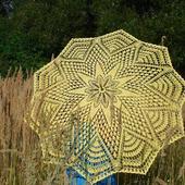 Ажурный зонтик-трость авторской работы