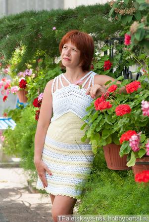 Платье Солнечное ручной работы на заказ