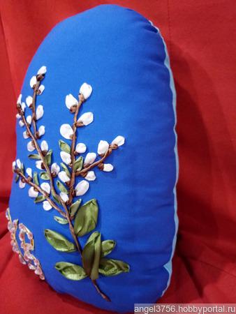 Подушка в виде яйца на пасху ручной работы на заказ