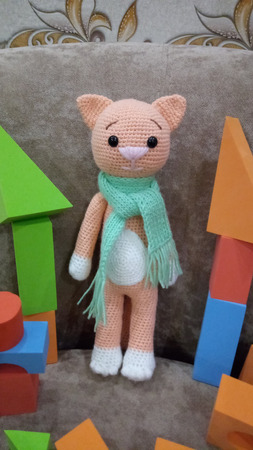 Детская игрушка котик ручной работы на заказ