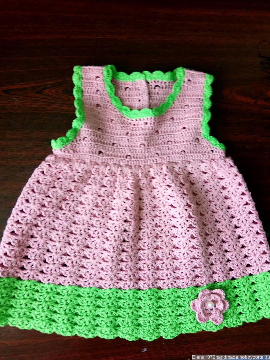 7b3f5759f49 Кружевное платьице для малышки