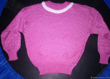 Вязаные джемпера для девочек ручной работы на заказ