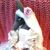Текстильная лошадка Ева