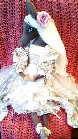 Текстильная лошадка Ева ручной работы на заказ
