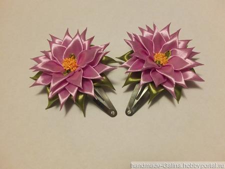 Украшения в стиле канзаши ручной работы на заказ
