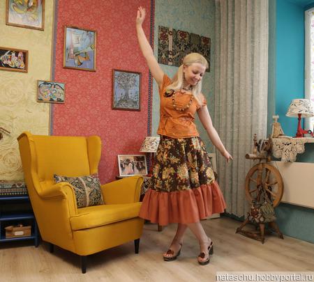 Хлопковая юбка летняя ручной работы на заказ