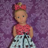 """Платье для куклы """"Розовые очки"""""""