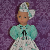 """Платье для куклы """"Сонные зайчики"""""""