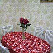 """Скатерть """"Красотка"""" на овальный стол"""