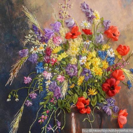 """Картина """"Очарование полевых цветов"""" ручной работы на заказ"""