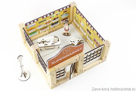 """Деревянная игрушка """"Supermarket"""" ручной работы на заказ"""