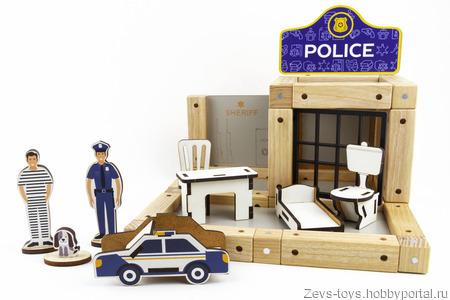 """Эко-конструктор на магнитах """"Police"""" ручной работы на заказ"""