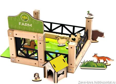 "Эко-конструктор на магнитах ""Farm"" ручной работы на заказ"