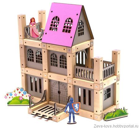 "Эко-конструктор на магнитах ""Castle for girls"" ручной работы на заказ"