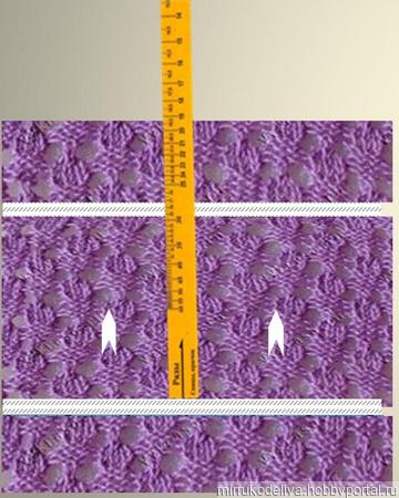 МК спицами:  Двусторонний  джемпер  из мериноса  + Калибровоч. линейка ручной работы на заказ