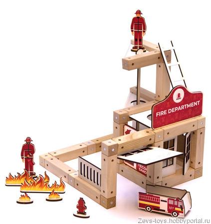 "Эко-конструктор на магнитах ""Fire department"" ручной работы на заказ"