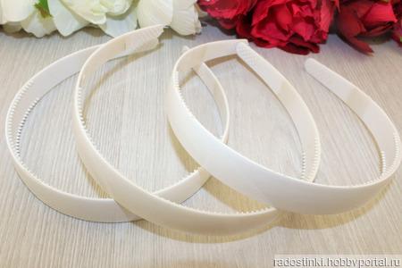 Ободок пластик белый ручной работы на заказ
