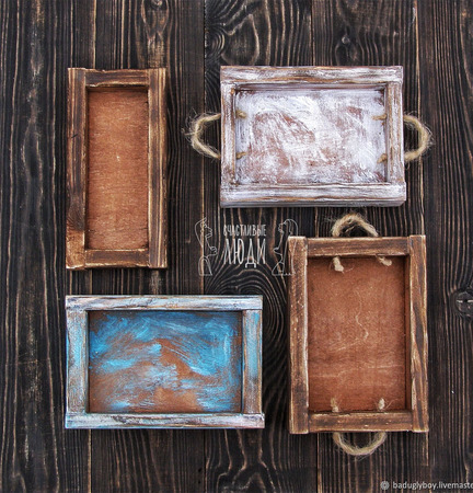 Короб деревянный для фотосессии ручной работы на заказ