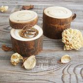 Свадебная коробочка для колец деревянная Сосна