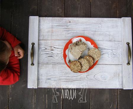 Поднос для завтрака ручной работы на заказ