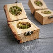 Коробочка для колец деревянная Дуб