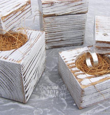Коробочка для колец из дерева. Коробочка для обручальных колец ручной работы на заказ