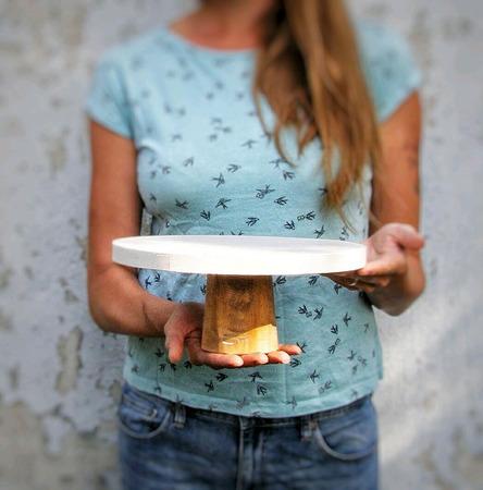 """Подставка для торта """"Nature"""" ручной работы на заказ"""