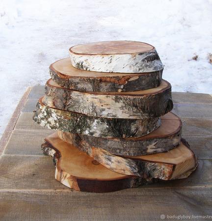 Спилы дерева ручной работы на заказ
