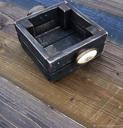 Короб деревянный с ручками для специй ручной работы на заказ
