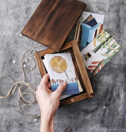 Шкатулка для фотографий ручной работы на заказ
