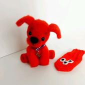 Собачка Варежка (бархатный носик)