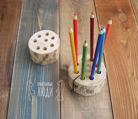 Подставка для ручек и карандашей ручной работы на заказ