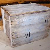 Большой сундук деревянный Фотофон