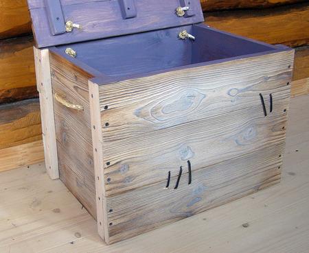Большой сундук деревянный Фотофон ручной работы на заказ