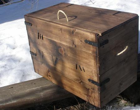 """Сундук деревянный """"Пиратский"""" ручной работы на заказ"""