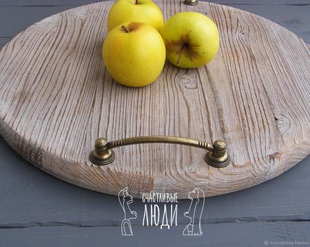 Поднос деревянный ручной работы на заказ