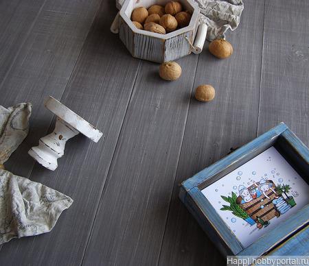 Фотофон деревянный двусторонний ручной работы на заказ