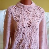 Стильный вязаный свитер с японским узором в Москве
