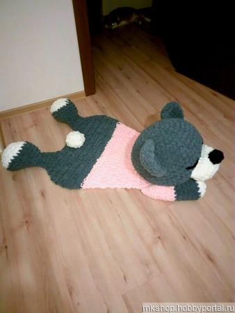Плюшевый коврик ручной работы на заказ