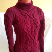 Кашемировый вязаный свитер ручной вязки в Москве